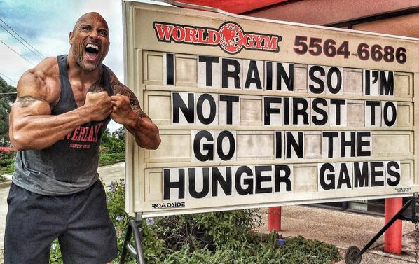 The Rock hunger games