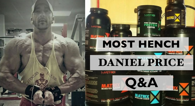 Supplement Centre's Most Hench Winner Daniel Price